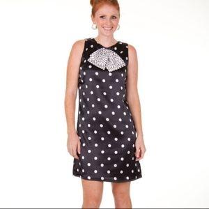 Tracy Negoshian satin Polka Dots dress